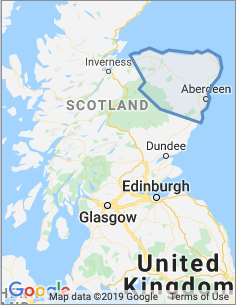 Area covered by the Aberdeen Branch