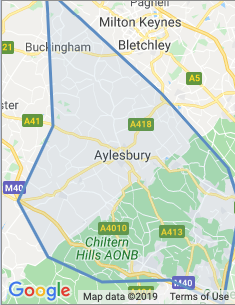 Area covered by Aylesbury Branch