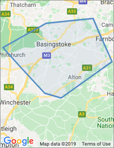 Area covered by Basingstoke branch