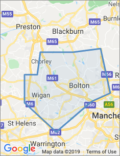 Area covered by Bolton branch