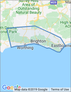Area covered by Brighton branch