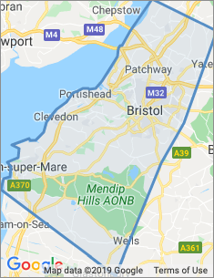 Area covered by Bristol branch