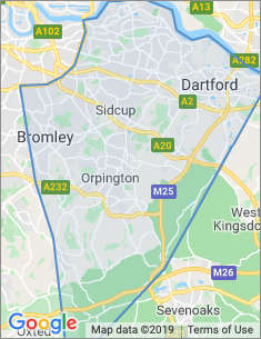 Area covered by Bromley branch