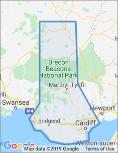Area covered by Cardiff branch