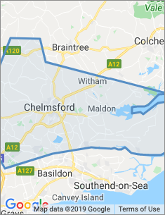 Area covered by Chelmsford branch