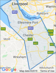Area covered by Chester branch
