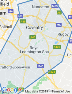 Area covered by Coventry branch