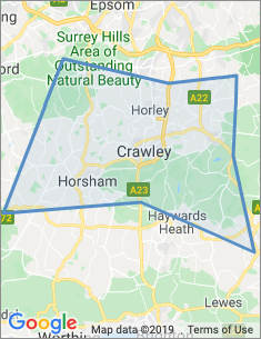 Area covered by Crawley branch