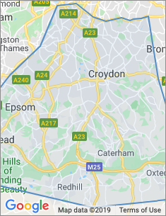 Area covered by Croydon branch