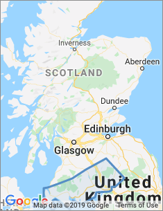 Area covered by Dumfries branch