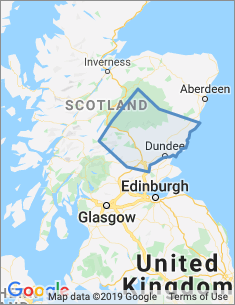 Area covered by Dundee and Perth branch