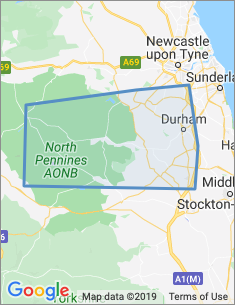 Area covered by Durham branch