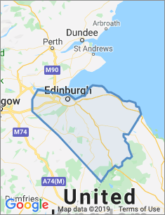 Area covered by Edinburgh branch