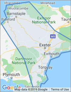 Area covered by Exeter branch