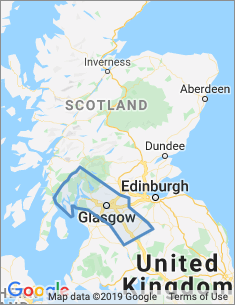 Area covered by Glasgow branch