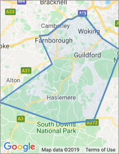 Area covered by Guildford branch