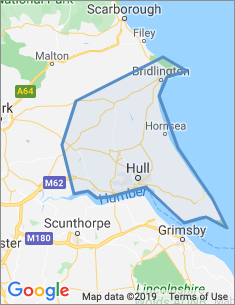 Area covered by Hull branch