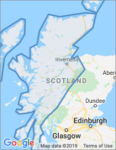 Area covered by Inverness branch