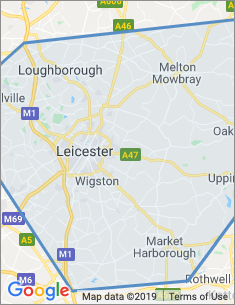 Area covered by Leicester branch