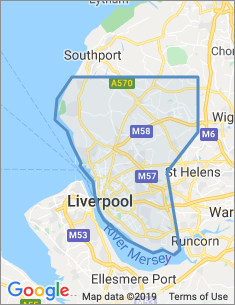 Area covered by Liverpool branch