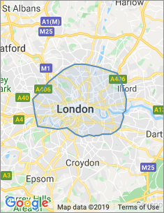 Area covered by London branch