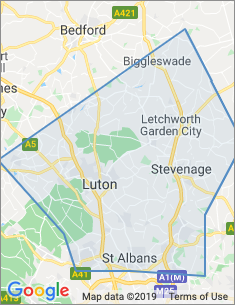 Area covered by Luton branch