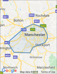 Area covered by Manchester branch