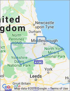 Area covered by Middlesbrough branch
