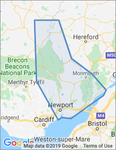 Area covered by Newport branch