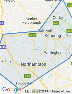 Area covered by Northampton branch