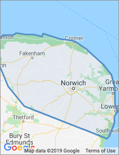 Area covered by Norwich branch