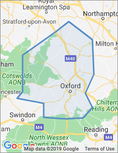 Area covered by Oxford branch