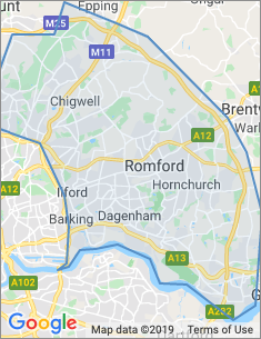 Area covered by Romford branch