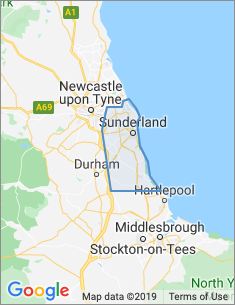 Area covered by Sunderland branch