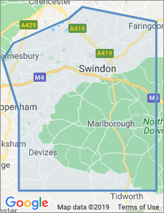 Area covered by Swindon branch