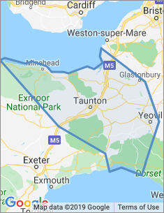 Area covered by Taunton branch
