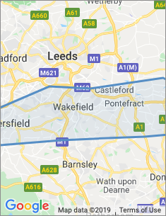 Area covered by Wakefield branch