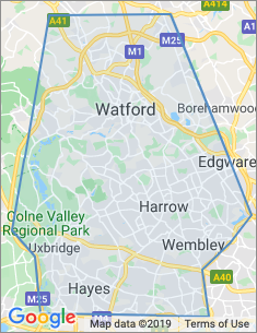 Area covered by Watford branch